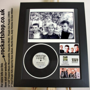 DEPECHE MODE PEOPLE ARE PEOPLE SIGNED DAVE GAHAN MARTIN ANDY ALAN