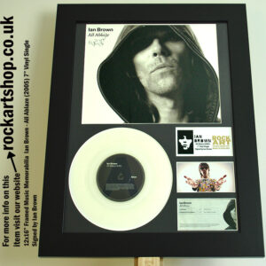 IAN BROWN SIGNED ALL ABLAZE VINYL SINGLE AUTOGRAPHED