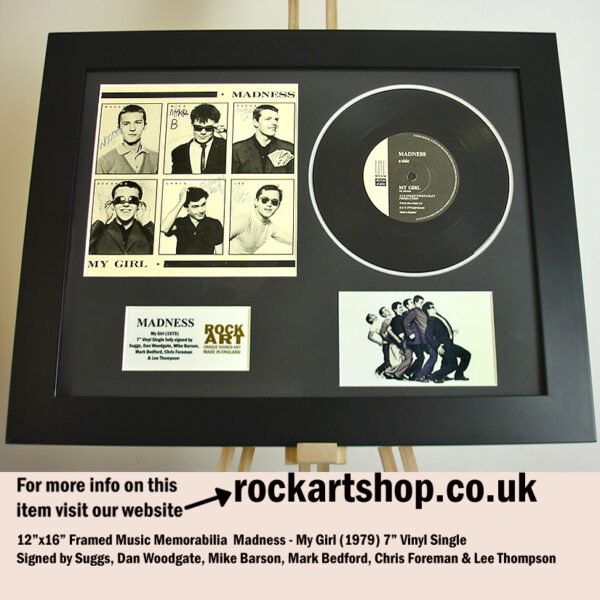 MADNESS SIGNED MY GIRL 1979 SUGGS +MIKE+CHRIS +MARK+LEE+DAN