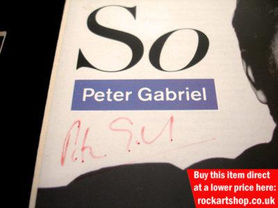 Peter Gabriel Autographed So CD