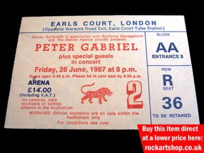 Peter Gabriel Signed Memorabilia