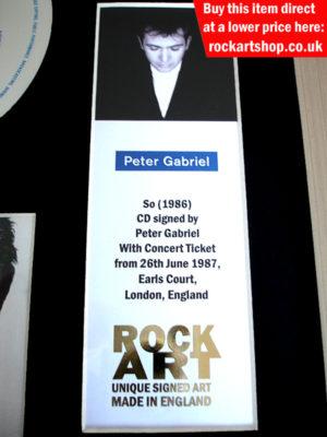 Peter Gabriel Memorabilia