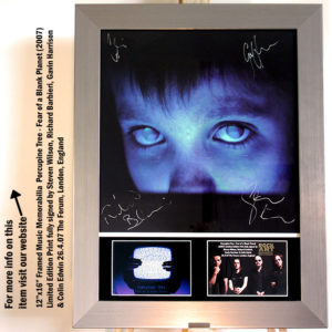 PORCUPINE TREE FULLY SIGNED FEAR OF A BLANK PLANET POSTER