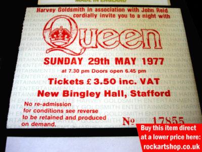 Queen Autographed Memorabilia