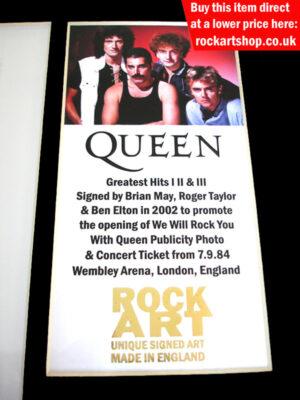 Queen Signed Memorabilia