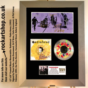 RADIOHEAD PABLO HONEY FULLY SIGNED THOM YORKE JONNY COLIN ED PHIL