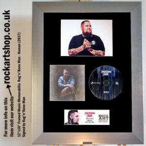 RAG'N'BONE MAN AUTOGRAPHED HUMAN CD MEMORABILIA