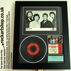 THE WHO YOU BETTER YOU BET SIGNED PETE TOWNSHEND MEMORABILIA