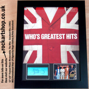 THE WHO MEMORABILIA VINYL SIGNED PETE TOWNSHEND ROGER DALTREY