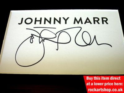 Johnny Marr Autograph