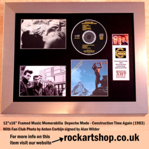 DEPECHE MODE CONSTRUCTION TIME AGAIN SIGNED BY ALAN WILDER
