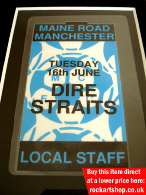 Dire Straits On Every Street Tour Pass