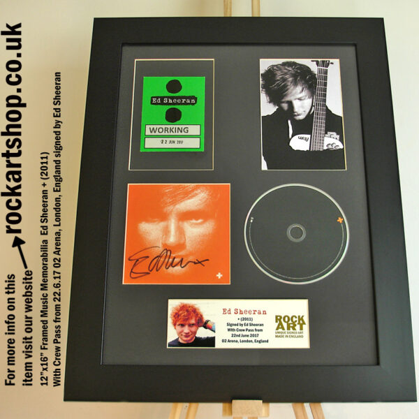 ED SHEERAN SIGNED +CD BACKSTAGE PASS 22.6.17 02 ARENA LONDON