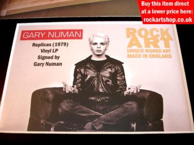 Gary Numan Autographed Memorabilia