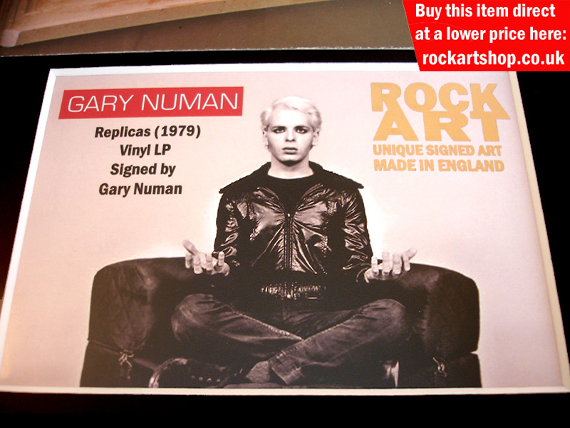 Gary Numan Replicas Signed Vinyl Memorabilia Tubeway Army