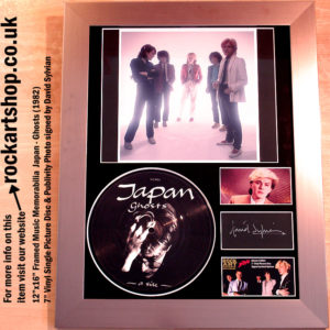 JAPAN GHOSTS VINYL SIGNED DAVID SYLVIAN AUTOGRAPHED PHOTO