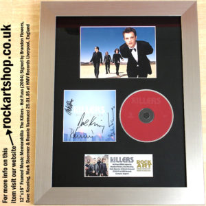 THE KILLERS FULLY SIGNED HOT FUSS AUTOGRAPHED BRANDON FLOWERS