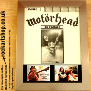 MOTORHEAD ON PAROLE VINYL LP AUTOGRAPHED BY LEMMY