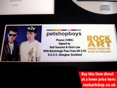 Pet Shop Boys Signed Memorabilia