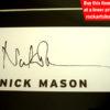 Nick Mason Autograph