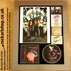 BLACK SABBATH PARANOID SIGNED OZZY OSBOURNE PUBLICITY PHOTO