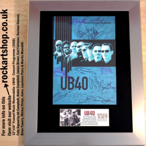 UB40 FULLY SIGNED BY 10 MEMBERS ALI CAMPBELL MUSIC MEMORABILIA