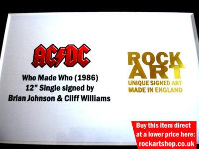 AC/DC SIGNED MUSIC MEMORABILIA