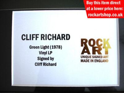 Cliff Richard Signed Memorabilia