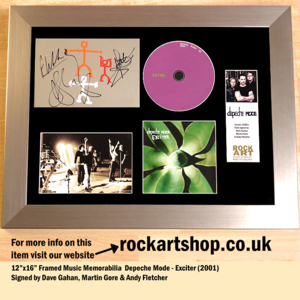 DEPECHE MODE EXCITER SIGNED DAVE GAHAN MARTIN GORE ANDY FLETCHER