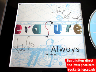 ERASURE CD AUTOGRAPHED BY VINCE CLARKE & ANDY BELL