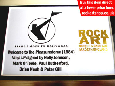 Frankie Goes To Hollywood Signed Memorabilia