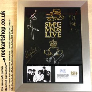SIMPLE MINDS LIVE IN THE CITY OF LIGHT VINYL FULLY SIGNED JIM KERR