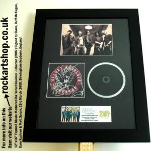 VELVET REVOLVER LIBERTAD CD SIGNED BY SLASH+DUFF +DAVE+MATT