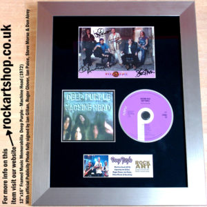 DEEP PURPLE FULLY AUTOGRAPHED MACHINE HEAD MUSIC MEMORABILIA