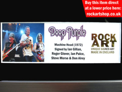 Deep Purple Autographed Music Memorabilia