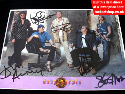 Deep Purple Fully Signed Publicity Photo