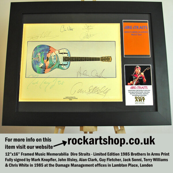 DIRE STRAITS BROTHERS SIGNED BY MARK KNOPFLER +6 BAND MEMBERS