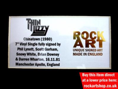 Thin Lizzy Autographed Music Memorabilia