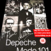 DEPECHE MODE FULLY AUTOGRAPHED 101