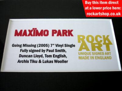 MAXIMO PARK SIGNED VINYL RECORD