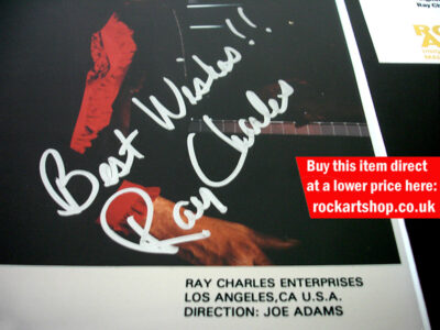 RAY CHARLES AUTOGRAPH