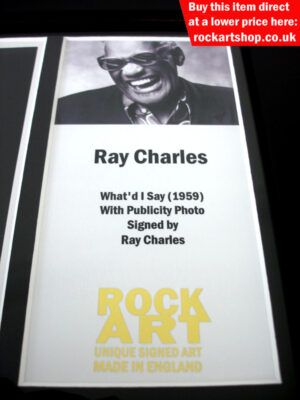 RAY CHARLES SIGNED MUSIC MEMORABILIA