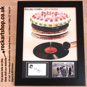 THE ROLLING STONES LET IT BLEED AUTOGRAPHED BILL WYMAN SIGNED