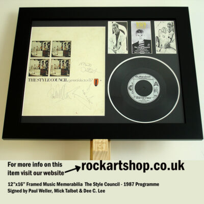THE STYLE COUNCIL FULLY AUTOGRAPHED PAUL WELLER MICK TALBOT +DC LEE