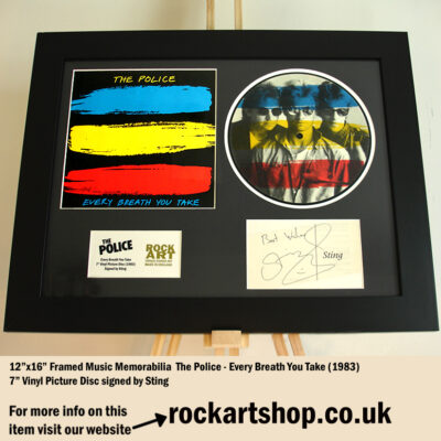 THE POLICE EVERY BREATH YOU TAKE VINYL PICTURE DISC SIGNED BY STING