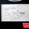 Sting Autograph