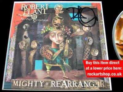 Robert Plant Autographed Mighty ReArranger