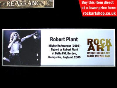 Robert Plant Signed Music Memorabilia