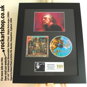ROBERT PLANT SIGNED MIGHTY REARRANGER AUTOGRAPHED MEMORABILIA