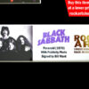 Black Sabbath Signed Music Memorabilia